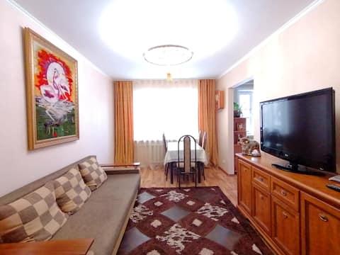 Уютная квартира с массажным креслом