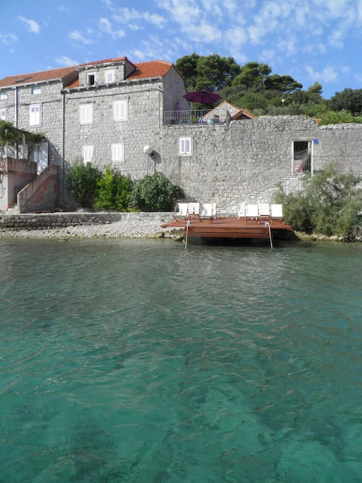 House viewed from the sea