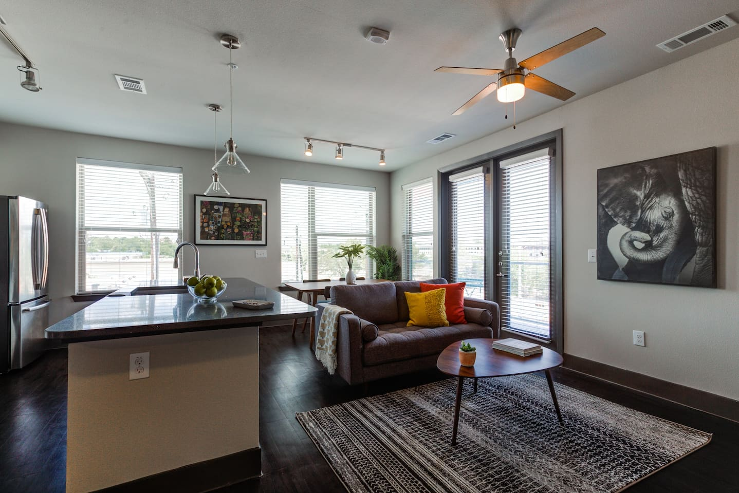Incredible two-bedroom, two-bathroom apartment in East Austin