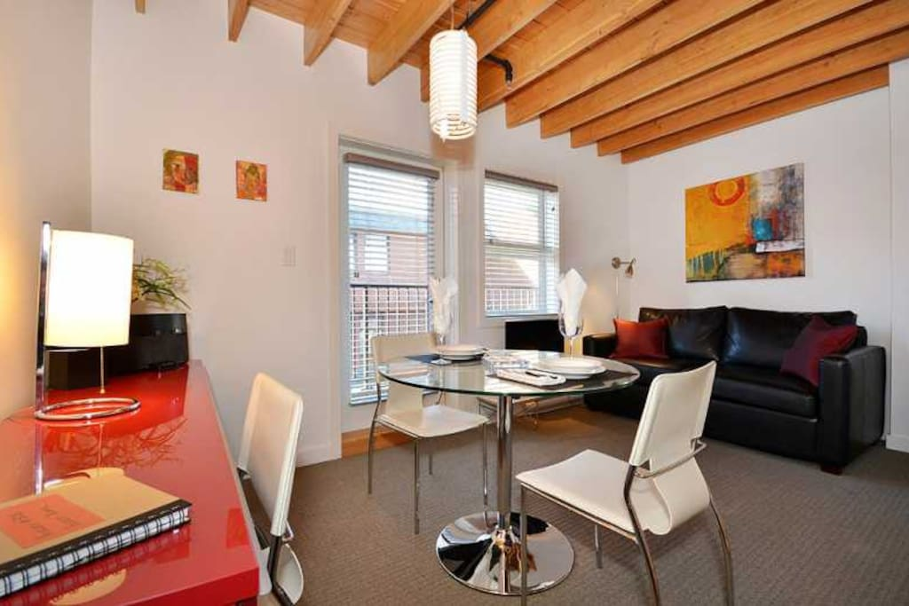 Dining and living room area