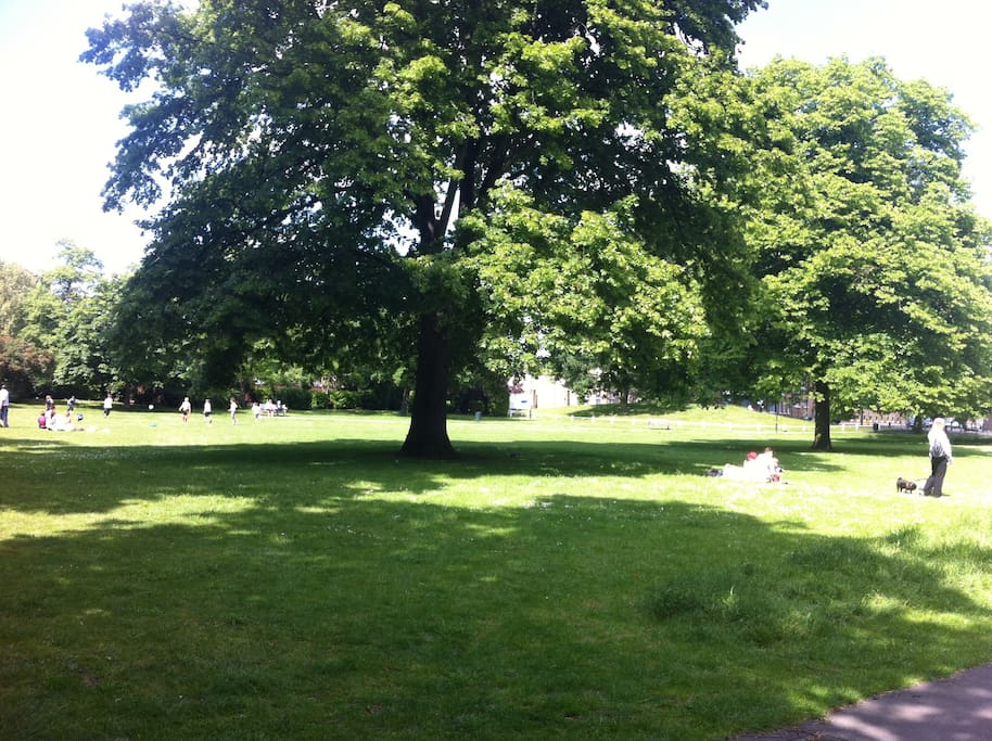 Mortlake green in a sunny afternoon