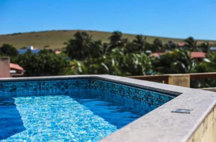 Meu Lugar- Flat B completo c/ jardim e piscina