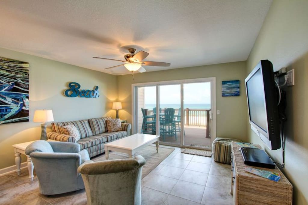 Enjoy Amazing Gulf Views from the Comfort of the Couch!