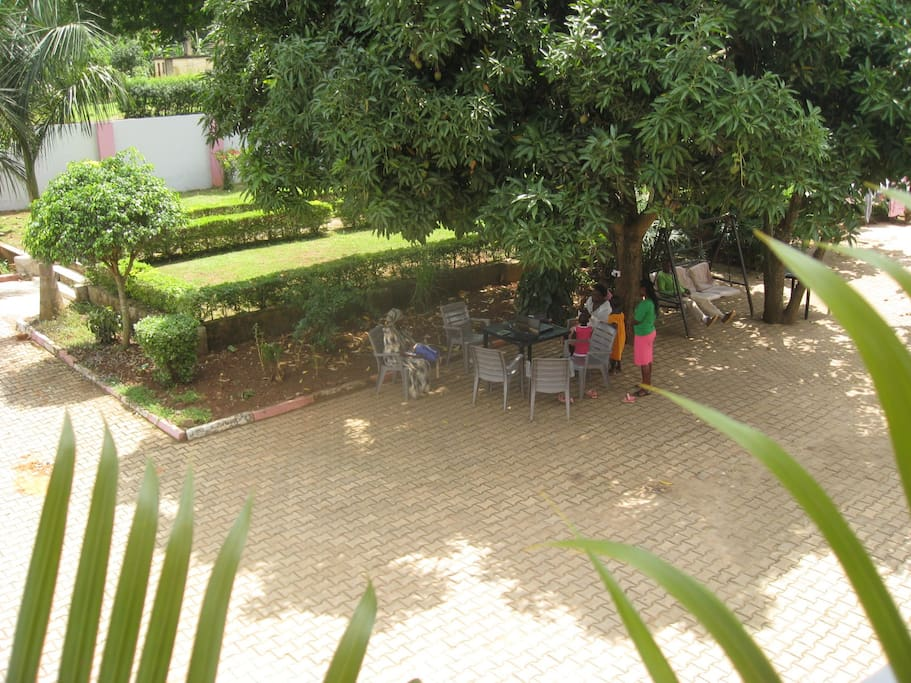 A view of the garden from the balcony.