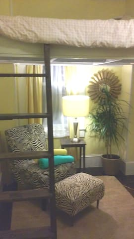 Small Cozy Rm Longer winter term avail Loft Bed