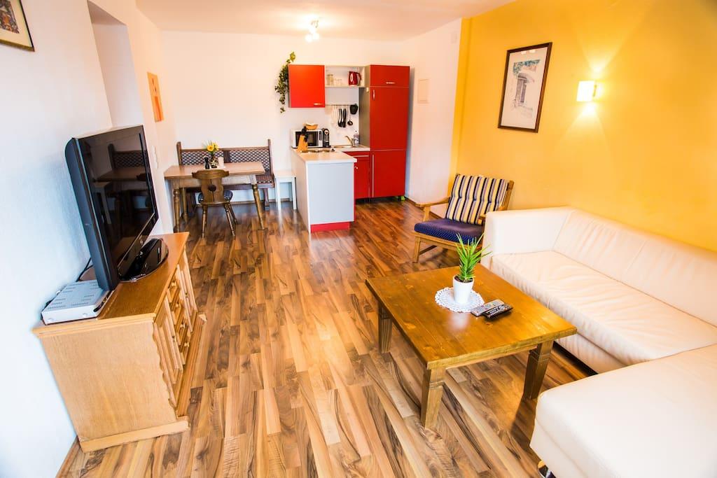 Apartment Rotschwänzchen Wohnbereich