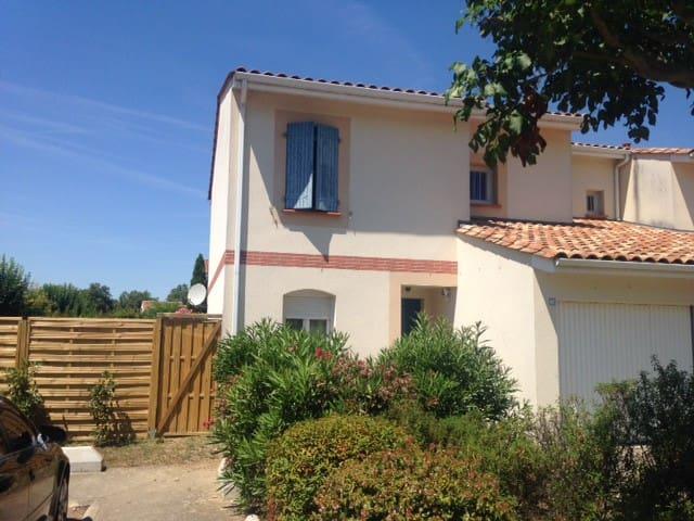 Villa 80m² piscine jardin - 15min Toulouse - Roques