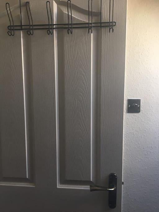 Hanging space in the back of the door