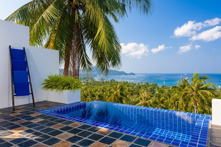 2 Br Pool Villa with the best sea views in Sairee