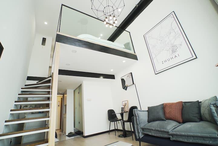 Miu's house-轻奢现代|复式LOFT|万科石花66号|近拱北口岸&情侣南路