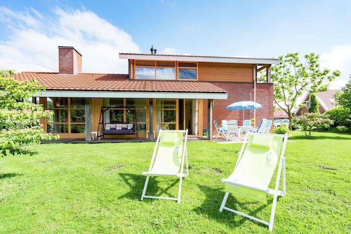Comfortable waterside holiday villa.