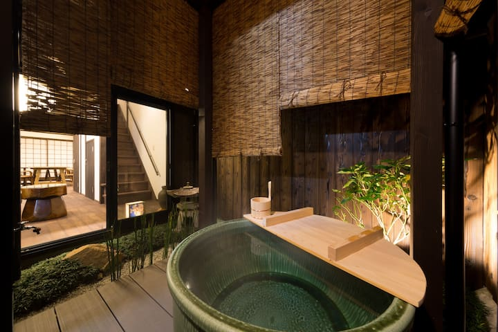 【Kyotoya Tsuki no Yu Bettei】with Open‐Air Bath - Fushimi-ku, Kyōto-shi - House