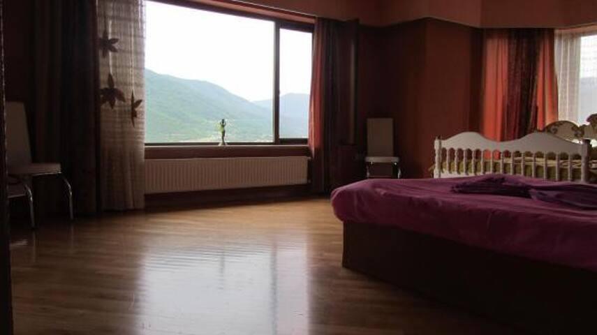 Оранжевая комната с видом на горы бассейн озеро