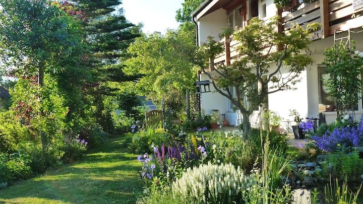 FeWo Gartenoase Illmensee, Nähe Bodensee - CH - A