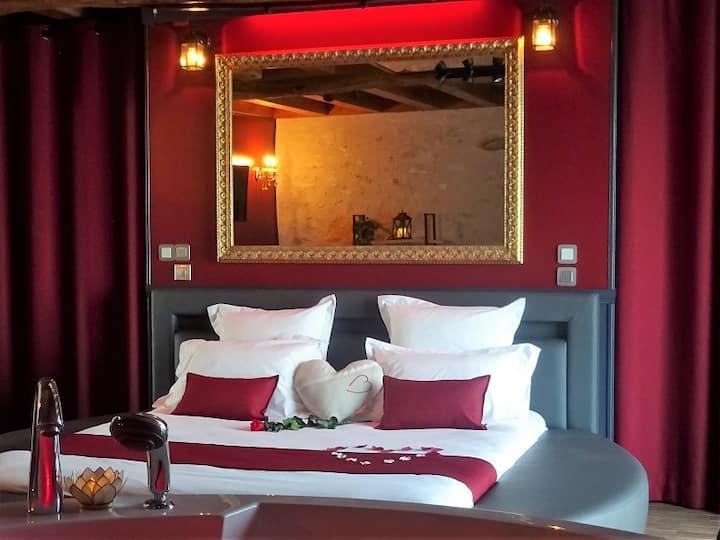 Gîte romantique 3* pour amoureux, spa privatif