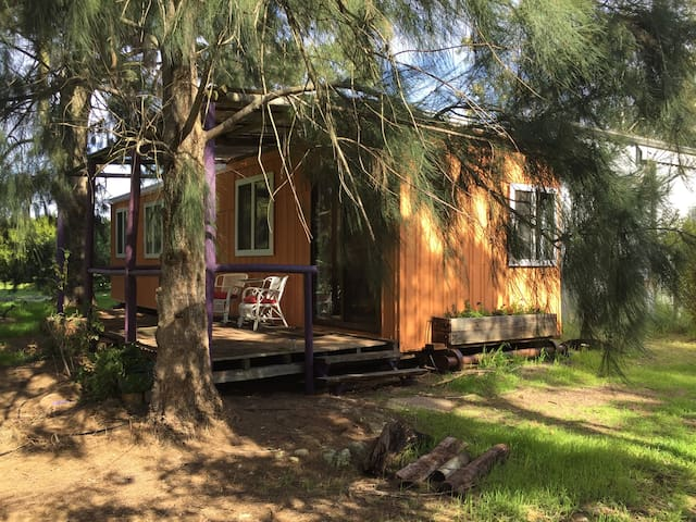 "Cozy ""glamping"" retreat in macadamia orchard."