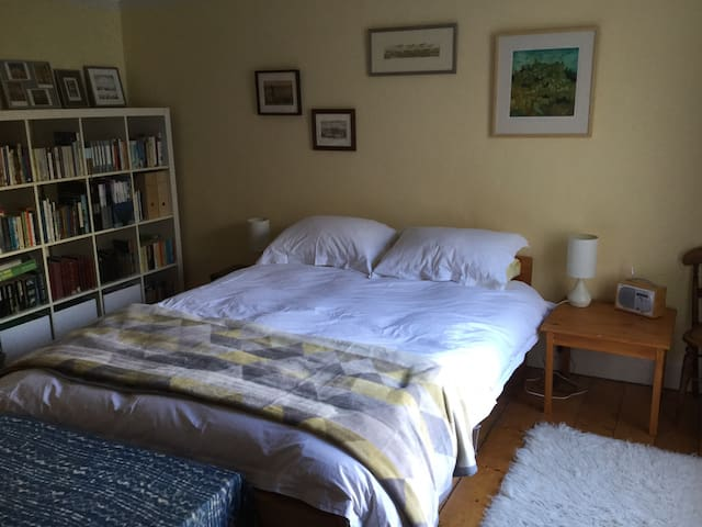 Large comfortable room with private bathroom