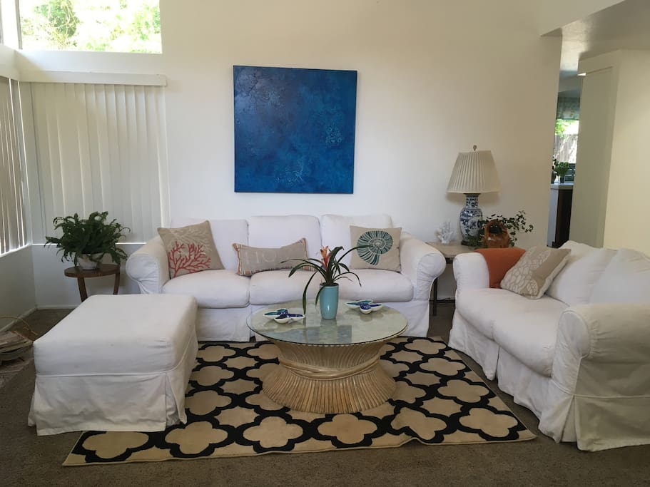 Living room with coastal style