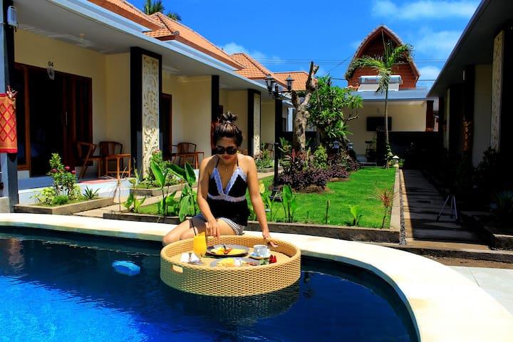 Bed& breakfast with a mini market,pool,resto & bar