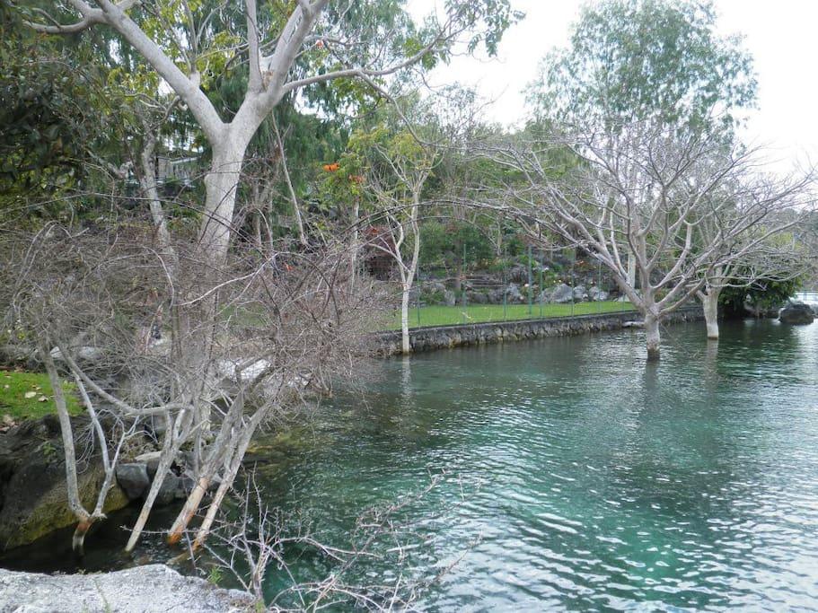 Area común con acceso al lago