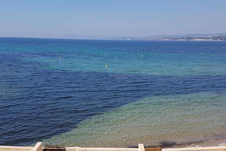 studio pleine vue mer 180 'à 30m de la plage, wifi - Six-Fours-les-Plages - Pis