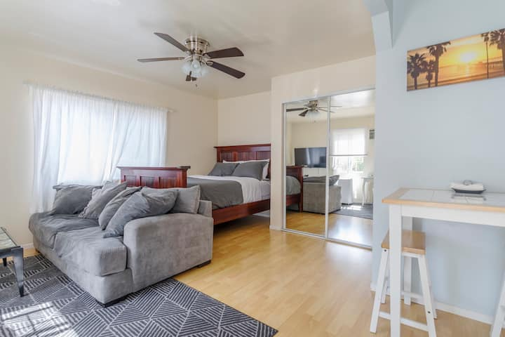 Charming Studio with a Spacious Relaxing Patio