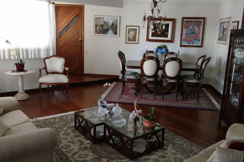 sala de jantar e de visitas