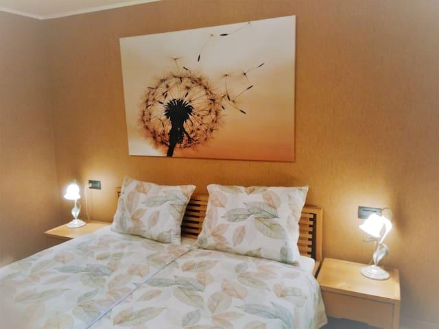 doppelbett zimmer mit fernseher br h user zur miete in dornbirn vorarlberg sterreich. Black Bedroom Furniture Sets. Home Design Ideas