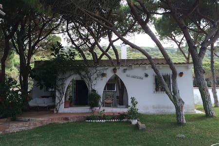 Chalet con maravilloso jardin a 250 m. de la playa - Los Caños de Meca - กระท่อมบนภูเขา