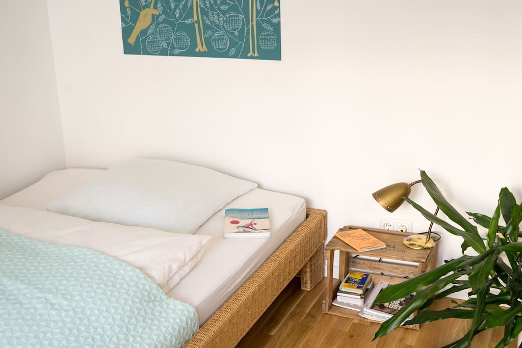 You will find some magazines and books by your bed.