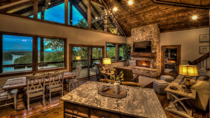 Lakeview at Boulder Rock- Beautiful Lake Views | Screened Porch w/ Fireplace