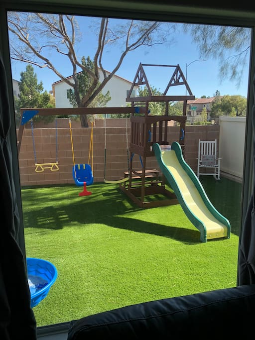 Newly added backyard fun for the little ones