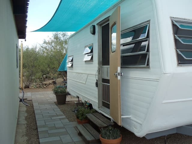 Entry to your glamping experience.