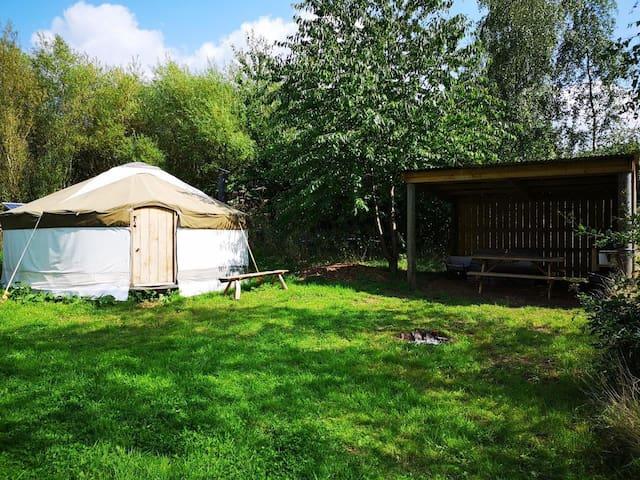 The Yurt at Cwm Maddoc