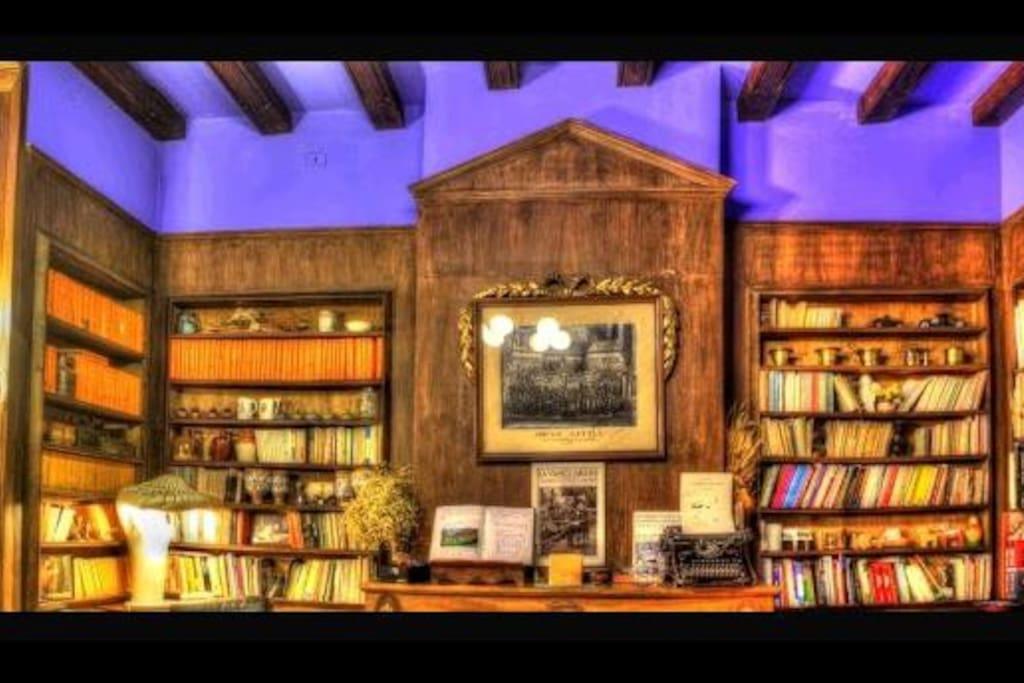 biblioteca per fer una copa , llegir o relaxar-se