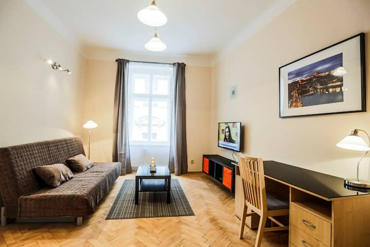 Cozy, new flat 7 in the heart of Prague, free wifi