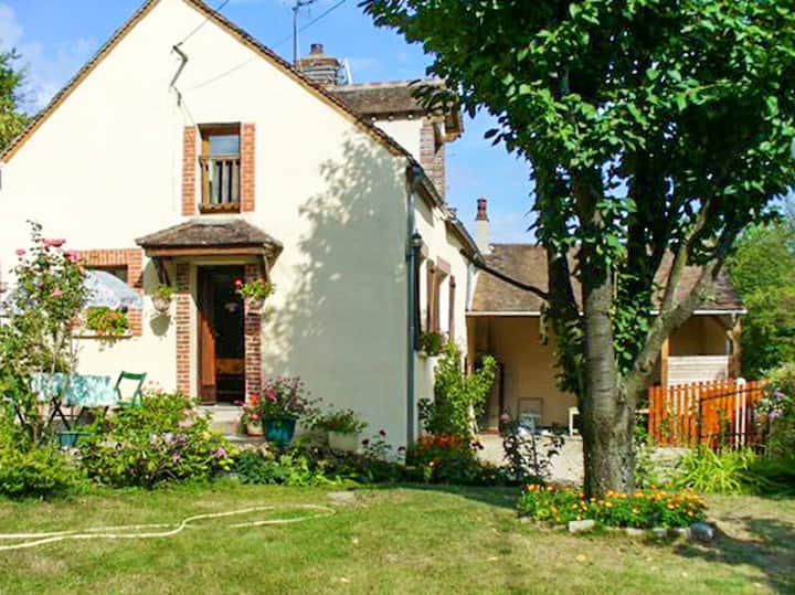 House with 2 bedrooms in Villeuneuve sur Yonne, with wonderful mountain view and enclosed garden