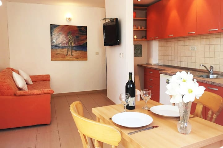 Cozy apartment close to the sea with terrace