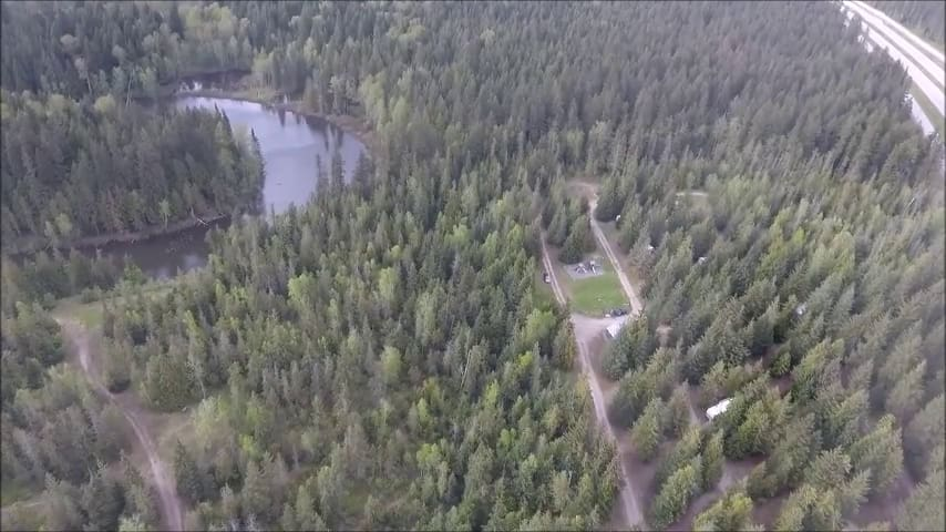 Large RV Campsite. Fully treed. Trans Canada Hwy.