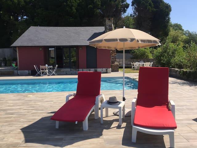 Maison piscine Jacuzzi normandie