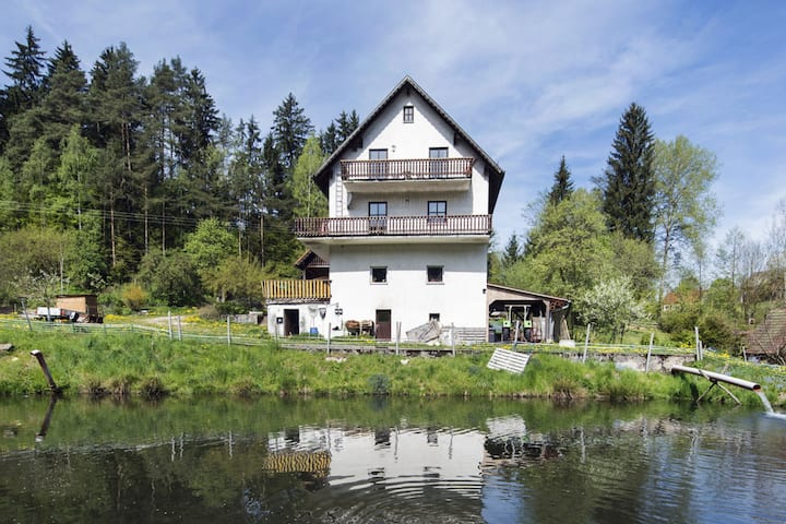 Secluded Apartment in Schönsee with Balcony