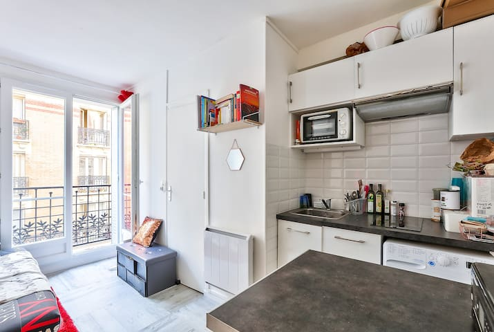 Tranquil & Sunny Studio In The 15th Arrondissement