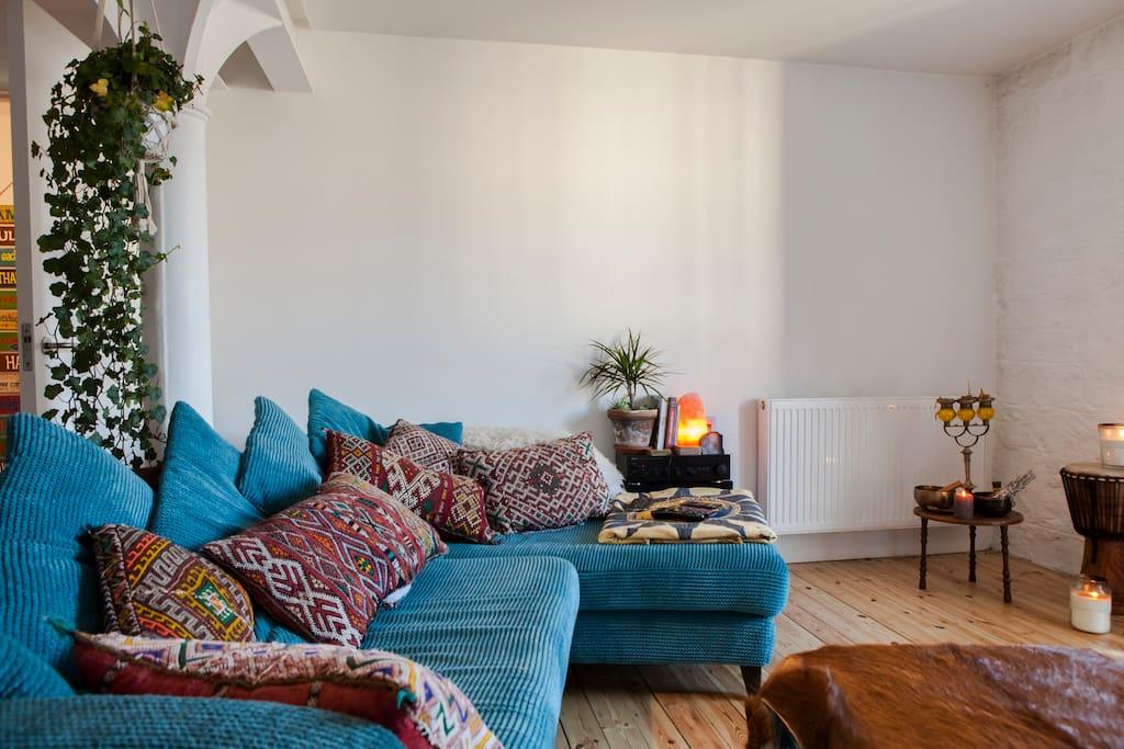 Loft style open plan living room