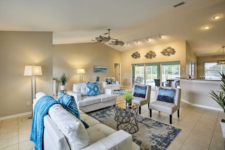 NEW! Cape Coral Getaway w/ Pool & Dock on Canal!
