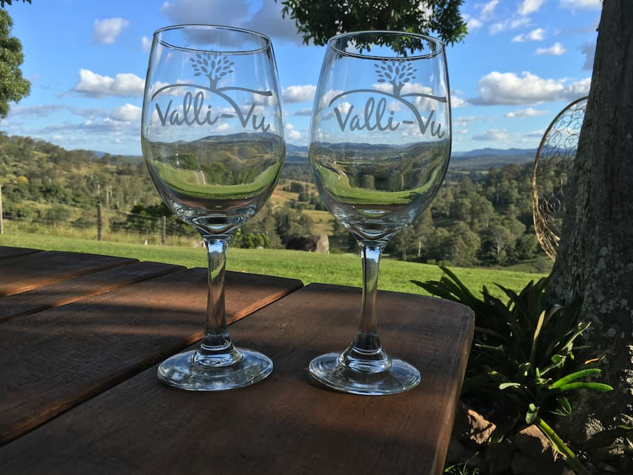Bring some wine and enjoy our views...