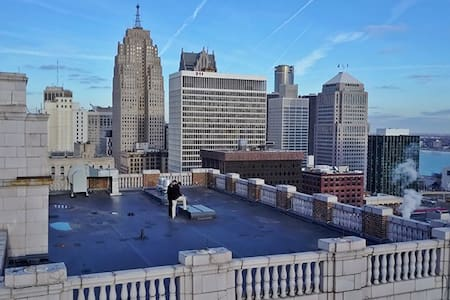 Million $ Penthouse + Private Rooftop Terrace - Detroit - Apartamento