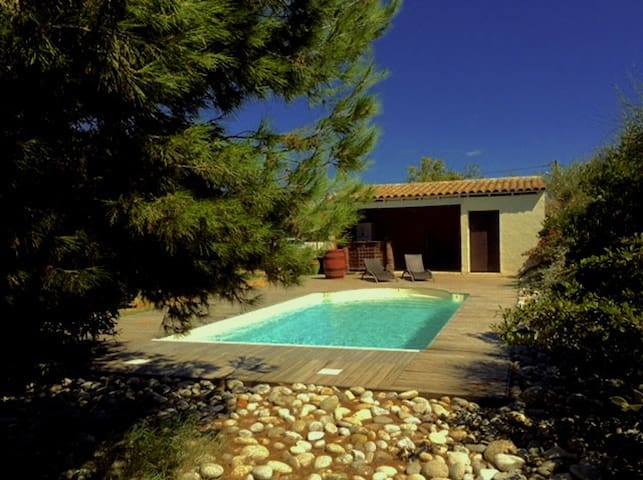 Nice house, with heated pool, garden and studio - Lézignan-Corbières - Haus