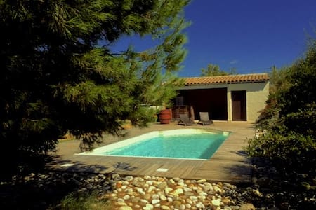 Nice house, with heated pool, garden and studio - Lézignan-Corbières - Hus