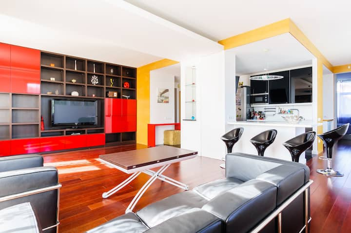 Exclusive design one bedroom apartment with view