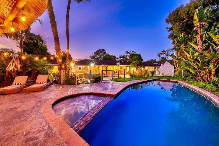 15% OFF DEC - Family Home, Large Yard, Pool, Spa & Palapa!